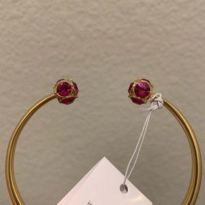 Kate Spade Lady Marmalade Cuff Bracelet Pink Studs